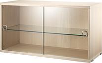 String Furniture String display cabinet, ash