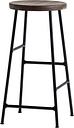 HAY Cornet bar stool, low, black - smoked oak