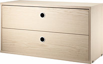 String Furniture String chest with 2 drawers, 78 x 30 cm, ash