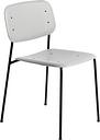 Hay Soft Edge 10 chair, black - soft grey, PU lacquer