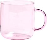 HAY Glass mug, pink