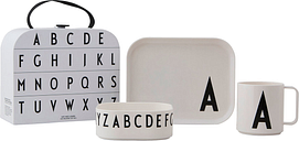 Design Letters Classics In A Suitcase tableware set, A-Z
