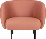 Warm Nordic Cape lounge chair, blush