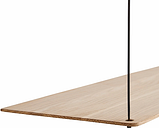 Woud Stedge 2.0 add-on shelf 80 cm, white pigmented lacquered oak