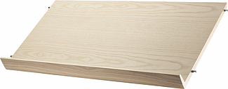 String Furniture String magazine shelf, 78 x 30 cm, ash