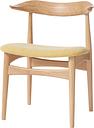 Warm Nordic Cow Horn chair, oiled oak - vanilla
