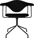 Gubi Masculo chair, swivel base, black upholstery