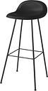Gubi 3D bar stool, 75 cm, black