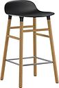 Normann Copenhagen Form barstool, 65 cm, black - oak