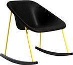 Inno Kola Light rocking chair, black-yellow