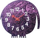 Vitra Zoo Timers wall clock, Elihu the Elephant