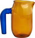 HAY Jug with blue handle, S, amber