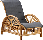 Sika-Design Paris lounge chair, dark grey seat cushion