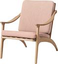 Warm Nordic Lean Back lounge chair, white oiled oak - rose