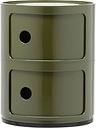 Kartell Componibili storage unit, 2 modules, green