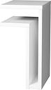 Maze F-shelf, left, white