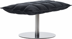 Woodnotes K ottoman, wide, base plate, black