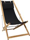 Skargaarden H55 easy chair, teak - black Sunbrella
