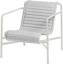 Hay Palissade Quilted cushion for low lounge chair, sky grey