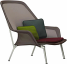 Vitra Slow Chair, brown - aluminium