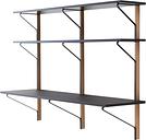 Artek Kaari wall shelf with desk REB 010, black - oak