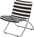 Skagerak Lise sunchair, black stripes