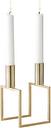 By Lassen Line candleholder, brass