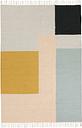Ferm Living Kelim rug, Squares, 140 x 200 cm