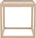 Klassik Studio Cube table, soaped oak - smoked glass