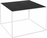 By Lassen Twin 49 table white, grey/black stained ash