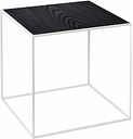 By Lassen Twin 35 table white, grey/black stained ash