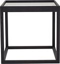 Klassik Studio Cube table, black - smoked glass