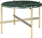 Gubi TS coffee table, 55 cm, brass - green marble