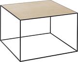 By Lassen Twin 49 table black, oak/brass