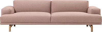 Muuto Compose sofa, 3-seater, oak legs