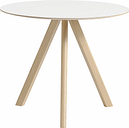 Hay CPH20 round table 90 cm, matt lacquered oak - white laminate