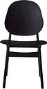 Warm Nordic Noble chair, black lacquered beech