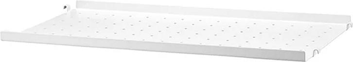 String Furniture String metal shelf, 58 x 30 cm, low, white