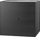 By Lassen Frame 49 box with door, black stained ash