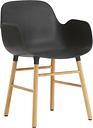 Normann Copenhagen Form armchair, black - oak