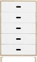 Normann Copenhagen Kabino dresser with 5 drawers, white