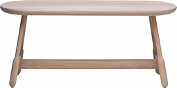 Massproductions Albert bench, white oiled oak