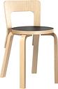 Artek Aalto chair 65, birch - black linoleum
