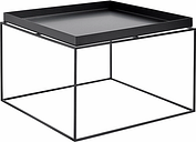 Hay Tray table large, black