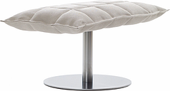Woodnotes K ottoman, wide, base plate, stone/white