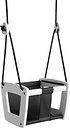 Lillagunga Lillagunga Toddler swing, white - black seat and rope