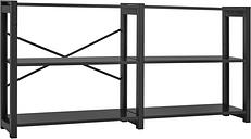 Lundia Classic open shelf, wide, black