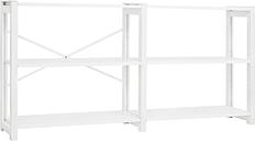Lundia Classic open shelf, wide, white