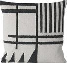 Ferm Living Kelim cushion, Black Lines