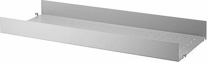 String Furniture String metal shelf, 78 x 30 cm, high, grey
